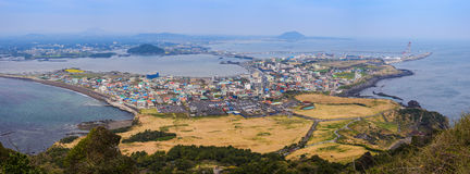 Jeju island. Panorama view from Seongsan Ilchulbong, Jeju, South Korea Stock Photo