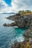 Jeju Island seashore Jusangjeollidae Royalty Free Stock Image
