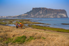 Jeju Island. Seongsan Ilchulbong, Jeju, South Korea royalty free stock photography