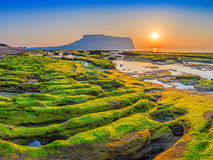 Jeju Island. Sunrise at Jeju-Do Seongsan Ilchulbong, Jeju Island, South Korea Stock Photo
