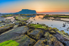 Jeju Korea. Sunrise at Seongsan Ilchulbong, Jeju, South Korea Stock Photography