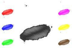 Jeju Province map vector vector illustration