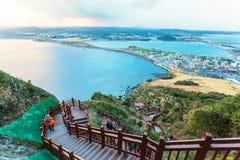 Jeju setzen Insel, Südkorea auf den Strand Lizenzfreie Stockbilder