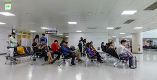 Waiting room at Jeju Airport in South Korea royalty free stock images