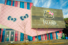 Jejueiland, Korea - November 12, 2016: Toerist bezochte HEL Royalty-vrije Stock Foto