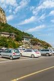 Jejueiland, KOREA - NOVEMBER 12: Toerist bezochte Sanbanggul Stock Fotografie