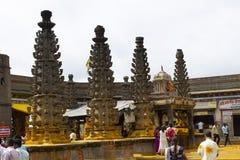 JEJURI PUNE OMRÅDE, MAHARASHTRA, Augusti 2018, fantast på den Lord Khandoba templet arkivfoto