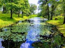 Jekabpils park. Park Jekabpils Latvia royalty free stock images