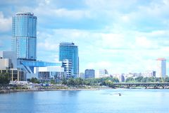 Jekaterinburg-Stadt Laguna lizenzfreie stockbilder
