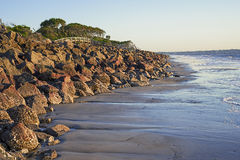 Jekyll Island beach at dawn and high tide Stock Image