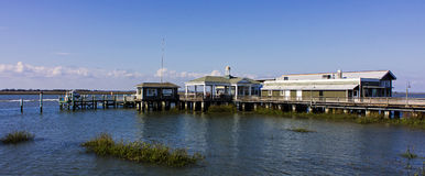 The Jekyll Island Club Wharf Marina Royalty Free Stock Images