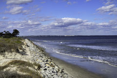 Jekyll Island, GA, beach at high tide Stock Image