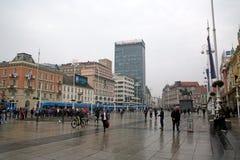 Jelacic kwadrat, główny miasto kwadrat, Zagreb, Chorwacja, Europa Fotografia Stock