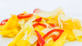 Jelatah or Malay Salad Dish IV. Jelatah a popular Malay side salad dish made from chilly, pineapples and cucumber slices mixed with vinegar, salt and sugar royalty free stock photography