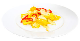 Jelatah or Malay Salad Dish VII. Jelatah a popular Malay side salad dish made from chilly, pineapples and cucumber slices mixed with vinegar, salt and sugar royalty free stock photos