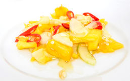 Jelatah or Malay Salad Dish VIII. Jelatah a popular Malay side salad dish made from chilly, pineapples and cucumber slices mixed with vinegar, salt and sugar royalty free stock images