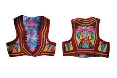 Jelek - traje ricamente decorado do nacional de Gorani da veste fotografia de stock