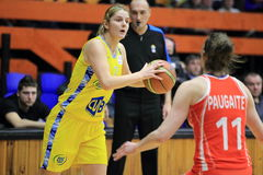 Jelena Dubljevic - basketball Royalty Free Stock Photos