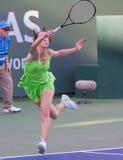 Jelena Jankovic bij 2010 BNP Open Paribas Stock Foto