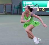 Jelena Jankovic bij 2010 BNP Open Paribas Royalty-vrije Stock Foto