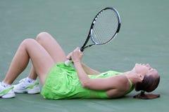 Jelena Jankovic bij 2010 BNP Open Paribas Royalty-vrije Stock Foto's