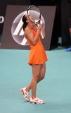 Jelena Jankovic of Serbia reacts at Open GDF Suez Royalty Free Stock Image