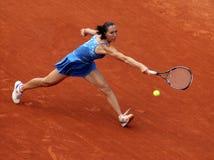 Jelena Jankovic (SRB) bei Roland Garros 2009 Lizenzfreies Stockbild