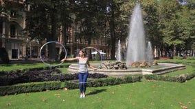 Jelena Znaor hula hoop artist. Jelena Znaor is famous Croatian hula hoop artist with international career stock video