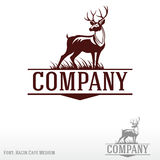 Jeleni logo royalty ilustracja