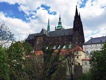 Jeleni Prikop slott i Prague Arkivbild