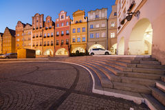 Jelenia Gora Old Town Houses at Night Royalty Free Stock Images