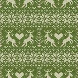 jeleniego ludowego ornamentu wzoru bezszwowy styl Obrazy Royalty Free