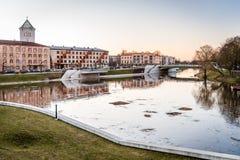 Jelgava cityscape i Lettland Arkivfoton