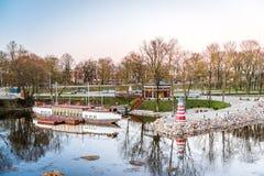 Jelgava cityscape i Lettland Arkivbild