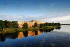 Jelgava palace sunrise in Latvia Stock Images