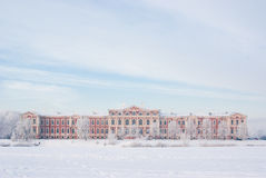 Jelgava palace in winter Stock Photos