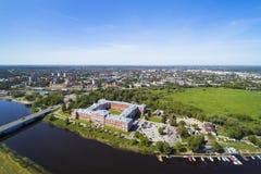 Jelgava-Stadt, Lettland stockfotografie