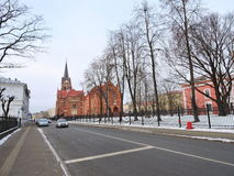 Jelgava town street, Latvia Stock Photo