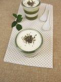 Jelled zielony smoothie zdjęcie stock