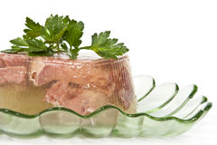 Jellied beef tongue. Royalty Free Stock Images