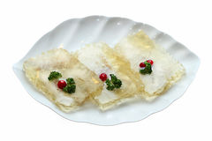 Jellied dish. With parsley and cranberries Royalty Free Stock Photos