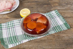 Jellied fish Royalty Free Stock Images