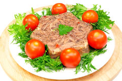 Jellied meat stock image
