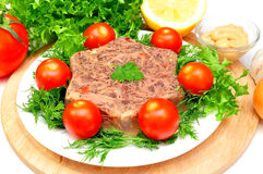 Jellied meat stock images