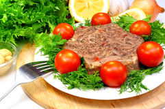 Jellied meat royalty free stock photo