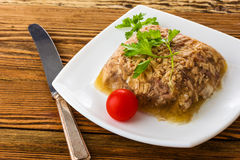 Jellied minced meat Stock Photography