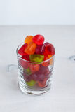 Jellies in a glass on a wooden table. Selective focus Stock Images