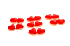 Jellies hearts Royalty Free Stock Image
