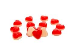 Jellies hearts Royalty Free Stock Photography