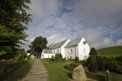 Jelling церковь стоковые фотографии rf
